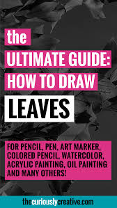 how to draw leaves the curiously creative