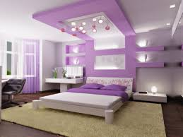 modern pop false ceiling designs for girls bedroom with white and