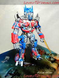 optimus prime cake topper optimus prime cake topper tutorial toppers cake