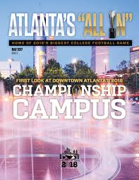Georgia World Congress Center Map by The 2018 Cfp National Championship Campus Atlanta Ga