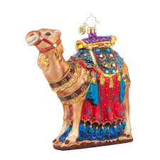 radko 1017681 from the far east jeweled camel ornament new