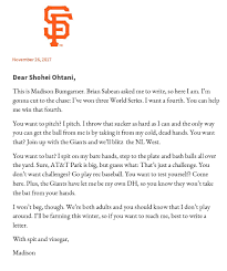 imagining the letters teams sent to convince shohei ohtani to sign