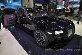 roll royce black rolls royce ghost black badge front three quarters right side at