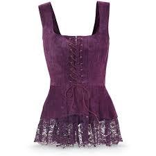 purple blouse plus size purple suede corset s top size 2x 140 pln liked on