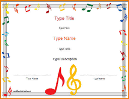 music certificate template authorization letter pdf