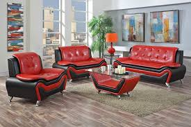 Red And Black Furniture For Living Room by Red Black Modern Living Room