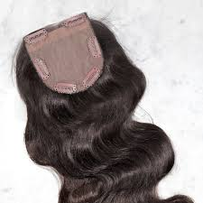 top closure indus wavy clip on top closure hairpiece