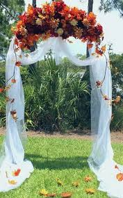 wedding decorating ideas 46 outdoor fall wedding arches happywedd