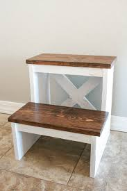 one board challenge rustic x back step stool addicted 2 diy