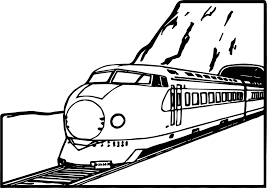 train mountain coloring page wecoloringpage