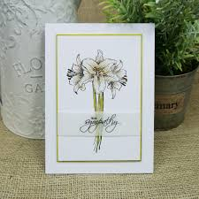 lovely lilies sentiment from the occasions set and flowers from the