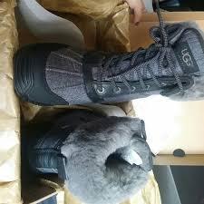 ugg s adirondack tweed boots 34 ugg shoes womens ugg adirondack ii boot size 6 charcoal