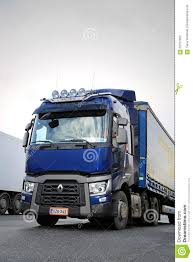 semi volvo truck parts blue renault trucks t semi vertical detail editorial photography