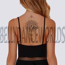 Tattoos For Middle Of Back Tribal Mandala Flower Temporary Arm Leg Neck Shoulder Middle