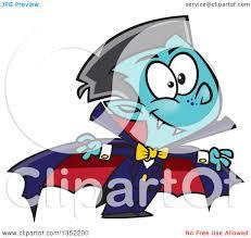 clipart of a cartoon halloween vampire boy royalty free vector