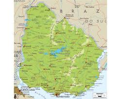South America Physical Map by Maps Of Uruguay Detailed Map Of Uruguay In English Tourist Map