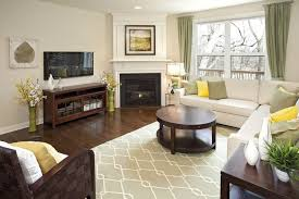 Corner Fireplace Furniture Placement In Living Room With Tv - Furniture placement living room with corner fireplace