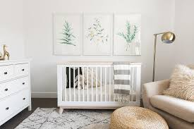 Convertible Crib With Toddler Rail White And Green Nursery With Convertible Crib Transitional Nursery