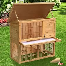 Ferret Hutches And Runs Wooden Rabbit Guinea Pig Ferret Hutch Run 2 Tier Pet House Chicken