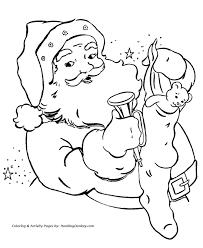 santa claus coloring pages santa claus bag toys