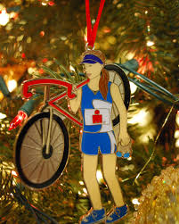 ironman triathlete ornament