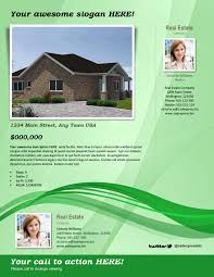 Free Real Estate Template by Real Estate Flyer Template U2013 Green
