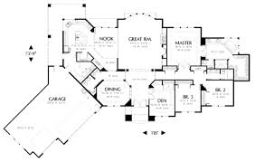 4 br house plans small bedroom house plans ranch one with master western style open