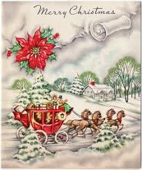 vintage christmas card coach u0026 horses circa 1945 vintage
