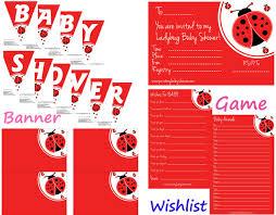 ladybug baby shower ideas ladybug baby shower printable set