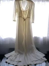 peignoir sets bridal 1940 s vintage white rayon bridal peignoir set nightgown robe s