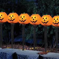 sylvania 7 light pumpkin lawn stake shopko