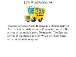 unit 2 least common multiple lcm word problems youtube