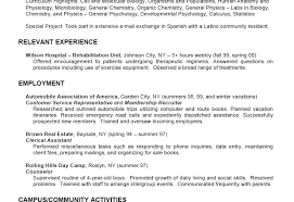 Relevant Experience Resume Examples by Sample College Student Resume Examples Relevant Experience