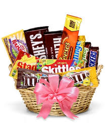 gift basket the sweetest candy gift basket at from you flowers