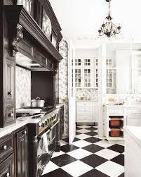 black and white kitchen tile new kitchen style