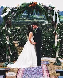 this couple u0027s christmas tree farm wedding is the ultimate holiday