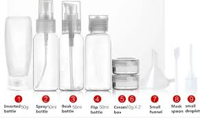 travel containers images 10 piece clear airline approved refillable containers and bottles jpg