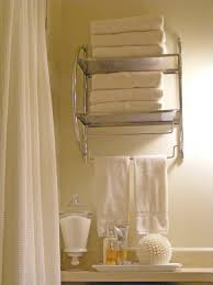 Bathroom Shelves Designs Bathroom Floating Silver Steel Two Shelves Towel Storage With