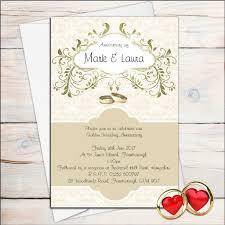 Marriage Anniversary Invitation Card 10 Personalised Golden Wedding Anniversary Invitations N13