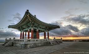 landscape photography sunset korean bell canvas gallery wrap
