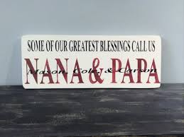 our greatest blessings wood sign grandparents sign grandma and
