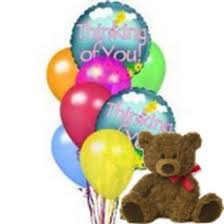 balloons and teddy delivery absolutely flowers inc thinking of you balloons and a teddy