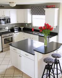 White Kitchen Cabinets Black Granite Remodelaholic Cottage Style Kitchen Entirely From Home Depot