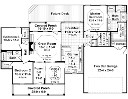 2800 Square Foot House Plans Country Style House Plans 1700 Square Foot Home 1 Story 3
