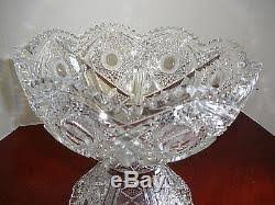 Pedestal Punch Bowl Brilliant Deep Cut Glass Punch Bowl U0026 Pedestal Vintage