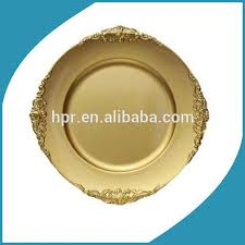 cheap wedding plates cheap wholesale plastic disposable gold wedding charger plate