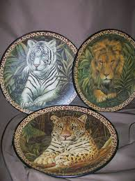 homco home interior 3 homco home interiors jungle cat plates lion white tiger leopard