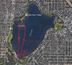 seattle map green lake duck island race series seattle canoe and kayak club