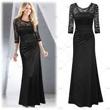 fashion women lady lace short cocktail party evening long gown