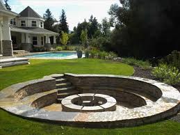 pit landscaping by outdoor designs brick design ideas